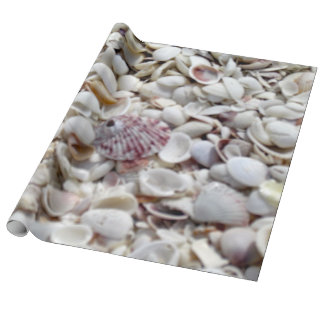 Seashells on the Beach wrapping paper