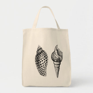 Seashells Organic Cotton Grocery Tote