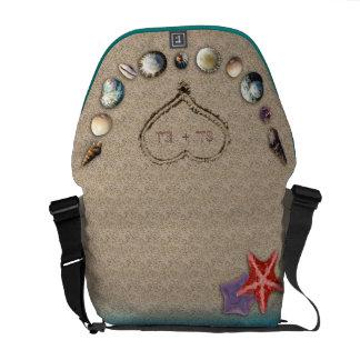 Seashells & Sandy Heart Monogrammed Bag Courier Bags