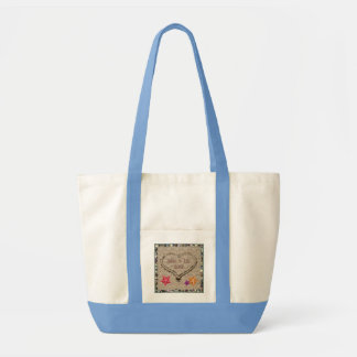 Seashells & Sandy Heart Monogrammed Tote Bag