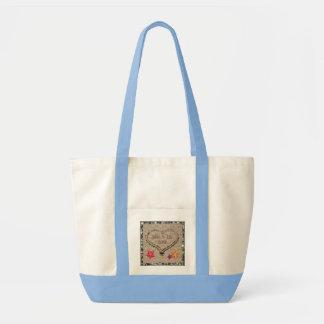 Seashells & Sandy Heart Monogrammed Tote Bag