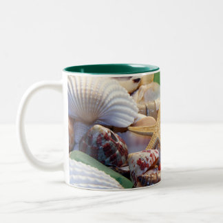 Seashells Starfish & Beach Glass Mug