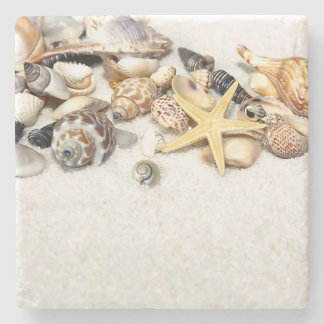 Seashells Stone Coaster