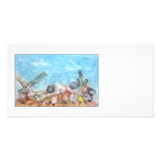Seashells Under The Sea Customized Photo Card