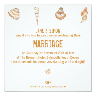 Seashells Wedding Invitation