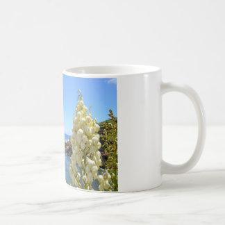Seashore and Yucca Flowers In Bloom Coffee Mug