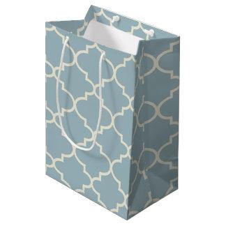 Seashore Blue Moroccan Lattice Medium Gift Bag