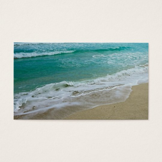 seashore business card template original photo art