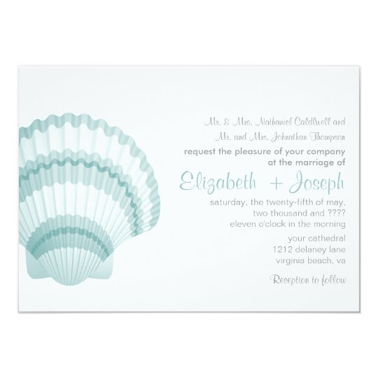 Seashore Elegance Wedding Invitation