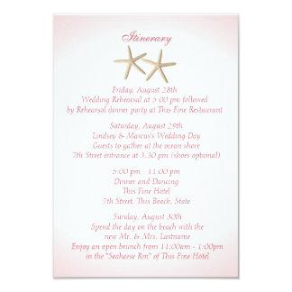 Seashore Pink Hydrangea Wedding Intinerary 9 Cm X 13 Cm Invitation Card