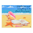 Seashore Praise Inspirational Post Card
