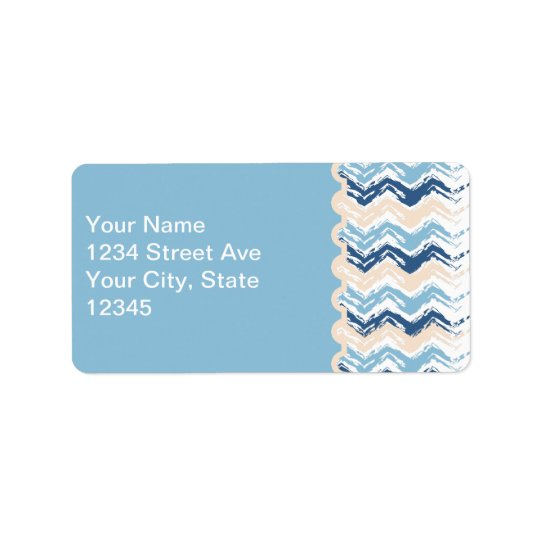 Seashore Scribble ZigZag Address Label