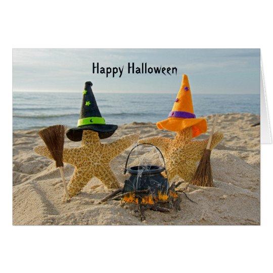 Seashore Starfish Halloween Card
