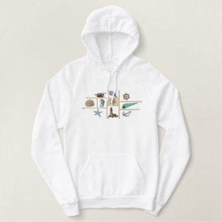 Seashore treasures embroidered hoodie