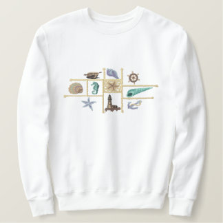 Seashore treasures embroidered sweatshirt