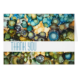 SeaSide Abstract Thank You Card