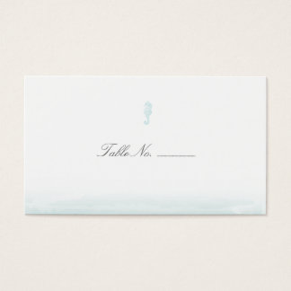 Seaside Blue Guest Table Escort Cards