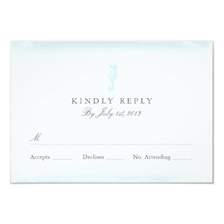 Seaside Blue Wedding RSVP Card