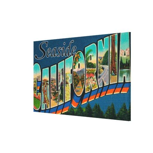 Seaside, California - Large Letter Scenes Canvas Print