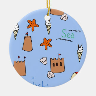 seaside christmas ornament