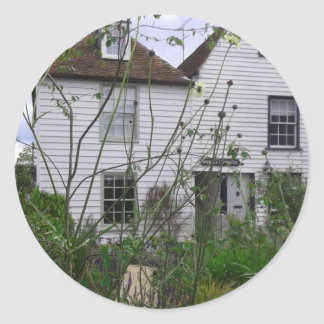 Seaside Cottage Classic Round Sticker