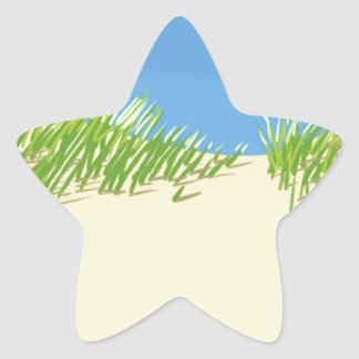 Seaside Dunes Star Sticker