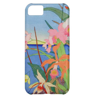 Seaside Flowers Japanese Woodblock Art Ukiyo-E Cover For iPhone 5C