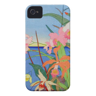 Seaside Flowers Japanese Woodblock Art Ukiyo-E Case-Mate iPhone 4 Case