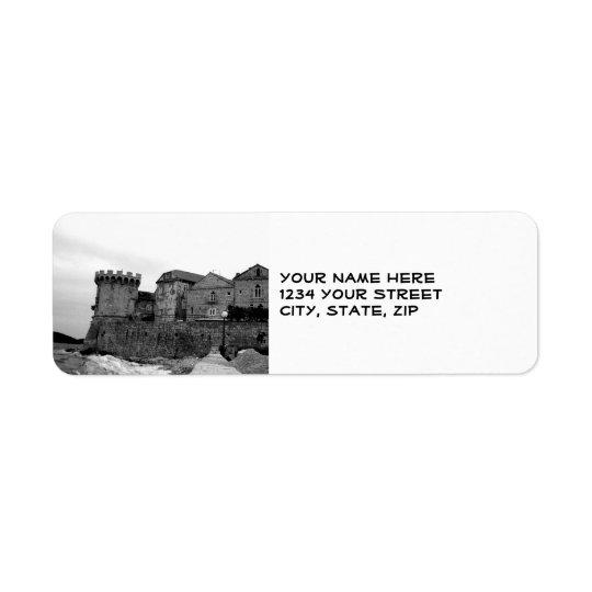 Seaside Fortress in Korcula Return Address Label