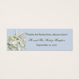 Seaside Garden Starfish Personalized Favor Tags Mini Business Card