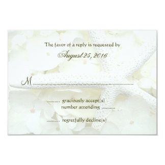 Seaside Garden Wedding Invitation Reply Cards