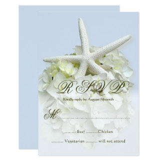 Seaside Garden Wedding Menu Reply Enclosure Card