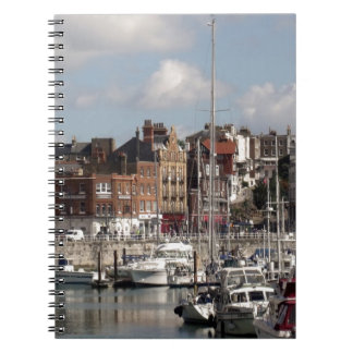Seaside Harbour And Sailing Boats Notebook