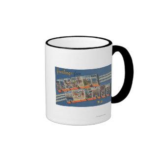 Seaside Heights, New Jersey - Large Letter Scene Coffee Mug
