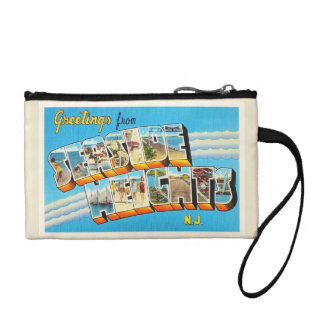 Seaside Heights New Jersey NJ Vintage Postcard- Coin Purses
