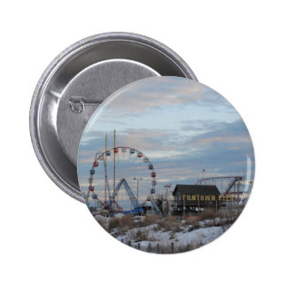 Seaside Heights Sunrise Funtown Pier Jersey Shore 6 Cm Round Badge