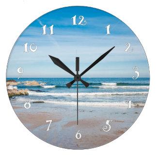 Seaside landscape, beautiful wall clock