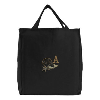 Seaside Monogram Embroidered Bag
