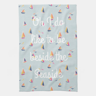 Seaside Nautical Teatowel Tea Towel