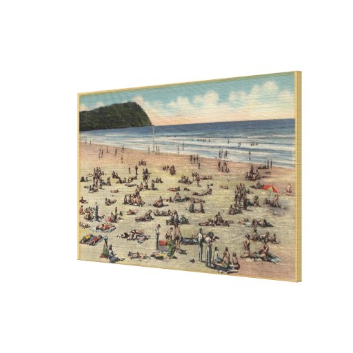Seaside, Oregon - Bathing in Suft and Sunshine Canvas Prints