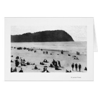 Seaside, Oregon Beach and Tillamook Head Greeting Card