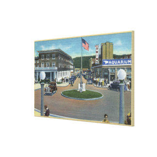 Seaside, Oregon - Broadway from Trail's End Canvas Print
