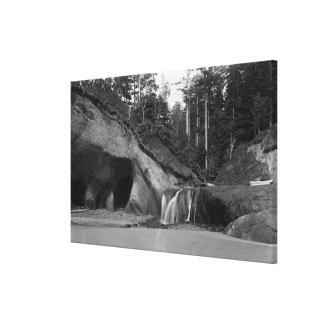 Seaside, Oregon Waterfall near Hug Point Canvas Print