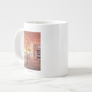 Seaside, OregonAquarium View Large Coffee Mug