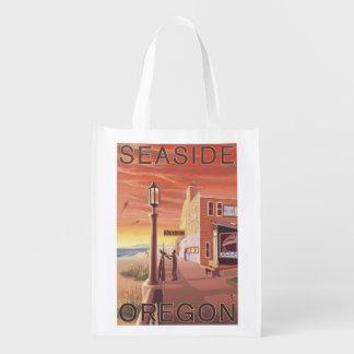 Seaside, OregonAquarium View Reusable Grocery Bag