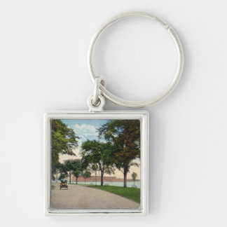Seaside Park Drive View Showing Locomobile Key Ring