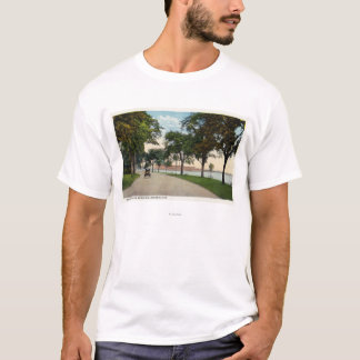 Seaside Park Drive View Showing Locomobile T-Shirt