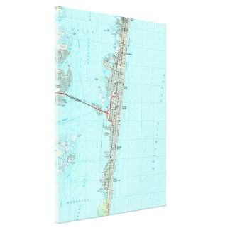 Seaside Park & NJ Shore Map (1989) Canvas Print