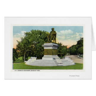 Seaside Park View of the P T Barnum Monument Card