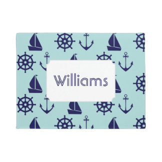 Seaside Pattern | Add Your Name Doormat